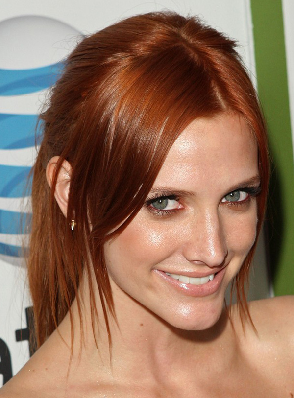Ashlee Simpson's High Ponytail Hairstyle