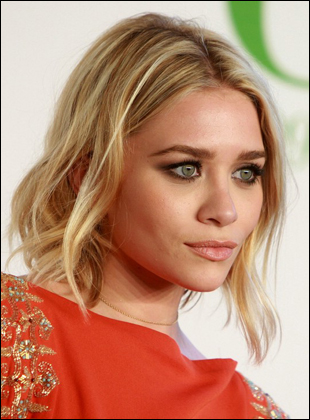 Ashley Olsen's Loose Low Updo Hairstyle
