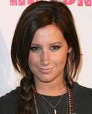 Ashley Tisdale's Simple Side Braided Hairstyle