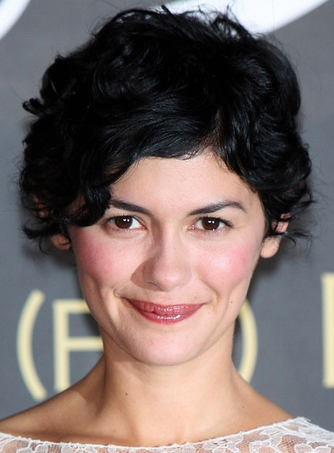 Audrey Tautou's Short Hairstyle with Curls