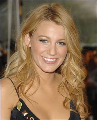 Blake Lively with Long Curly Hairstyle