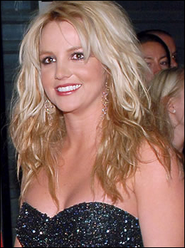 Britney Spears Blond Curly Hairstyle