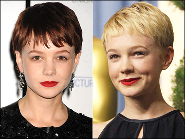 Carey Mulligan's Brunette and Blonde Hairstyle
