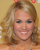 Carrie Underwood's Side Mid-length Curly Hairstyle