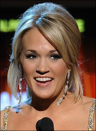 carrie underwood updos hairstyles. Carrie Underwood Low Ponytail