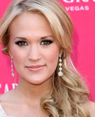 Carrie Underwood Low Side Ponytail Hairstyle at ACMs 2009