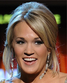 Carrie Underwood Low Ponytail Hairstyle at Grammys 2009