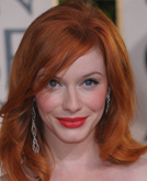 Christina Hendricks's Medium-length Layered Hairstyle at 2010 Golden Globe Awards