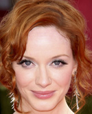 Christina Hendricks's Wavy Updo Hairstyle at Emmy Awards 2009