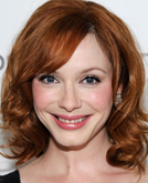 Christina Hendricks's Shoulder Length Hairstyle with Curls at 2010 Oscars After Party