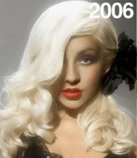 Christina and Gaga's Curly Hairstyles with Side-Swept Bangs