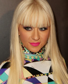 Christina Aguilera with Straight Hair