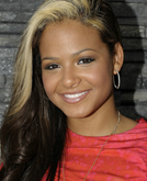 Christina Milian's Side-parted Hairstyle with Blond Hightlight