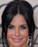 Courteney Cox's Messy Bun Hairstyle at 2010 Golden Globe Awards