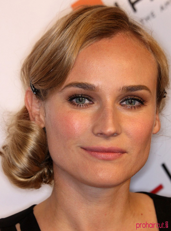 Diane Kruger S Side Updo Hairstyle