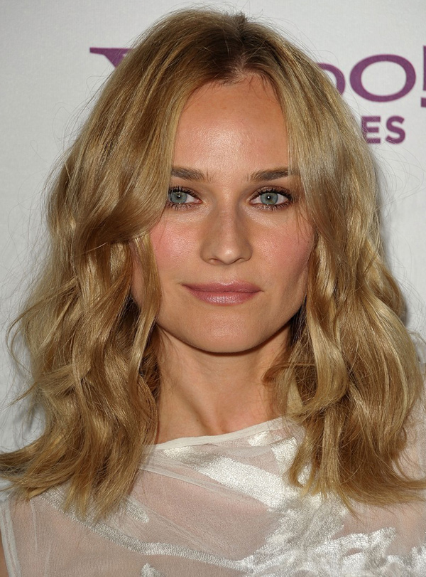 Diane Kruger S Soft Waves Hairstyle