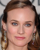 Diane Kruger's Earthy Elegance Half Up Half Down Hairstyle at 2010 Golden Globe Awards