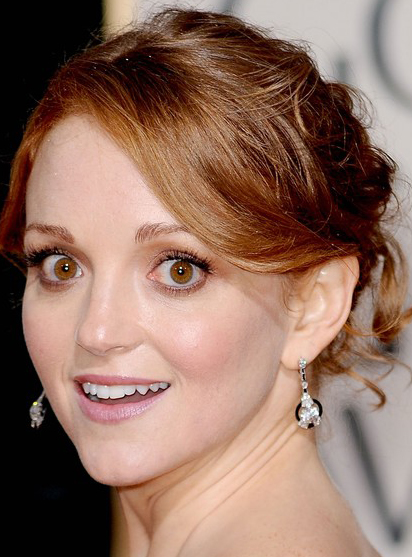 Jayma Mays S Pretty Sexy Updo Hairstyle At 2010 Golden