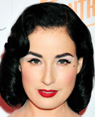 Dita Von Teese's Medium Wavy Hairstyle