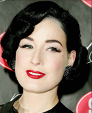 Dita Von Teese's Medium Length Hairstyle