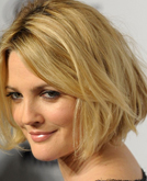 Drew Barrymore's Blond Bob Hairstyle with Waves