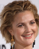 Drew Barrymore's Short Pulled-back Wavy Hairstyle
