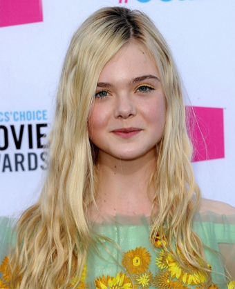 Elle Fanning's Long Blonde Wavy Hairstyle