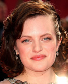 Elisabeth Moss's Medium Hairstyle with Curls at Emmy Awards 2009