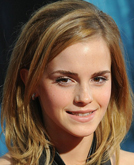 Emma Watson with Shoulder Length Hairstyle On the Red Carpet