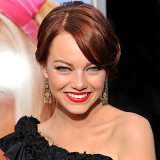 Emma Stone's Side-swept Red Hairstyle
