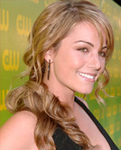 Erica Durance's Long Curly Hair Cut