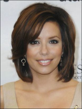 Eva Longoria Shoulder Length Hairstyle