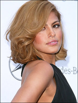 Mendes Wedding Hairstyle on Eva Mendes Medium Hairstyle   Celebrity Inspired Style  Hair  And