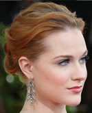 Evan Rachel Wood's Chignon at Golden Globes 2009