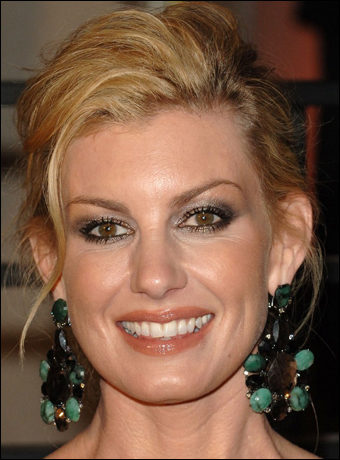 faith hill hairstyle. Faith Hill's Messy Chignon Hairstyle at 2010 Oscars After Party