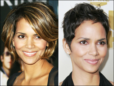 Hale Berry's Short Waves and Pixie Cut