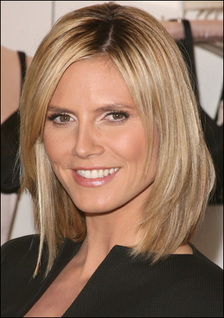 heidi klum updo hairstyles. Heidi Klum with Long Bob