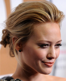 Hilary Duff's Pulled-back Updo Hairstyle