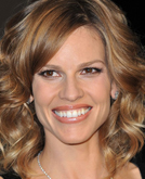 Hilary Swank's Shoulder Length with Wave Hairstyle at 2010 Oscars After Party