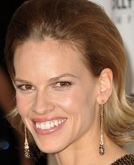Hilary Swank's Sleek Pulled-back Hairstyle