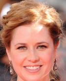 Jenna Fischer's Wavy Updo Hairstyle at Emmy Awards 2009