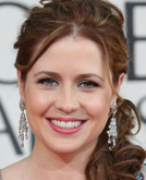 Jenna Fischer with Curly Hairstyle at Golden Globes 2009