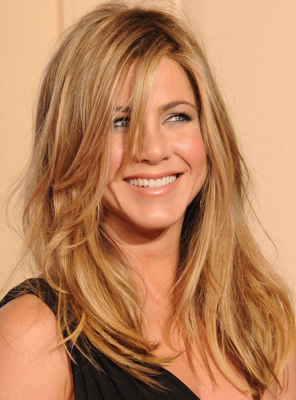Jennifer Anistons Long Casual Hairstyle At 2010 Golden Globe Awards