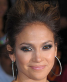 Jennifer Lopez's Unfinished Updo Hairstyle