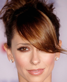 Jennifer Love Hewitt's Cute Updo Hairstyle with Bangs
