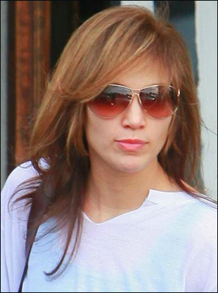 hairstyles bangs long. Jennifer Lopez's Long Layered Hairstyle with Bangs