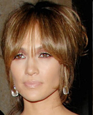 Jennifer Lopez High Elegant Chignon with Bangs