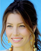 Jessica Biel's Low Ponytail  Hairstyle