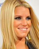 Jessica Simpson's Blond Straight Hair