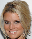 Jessica Simpson's Side Swept Updo Hairstyle